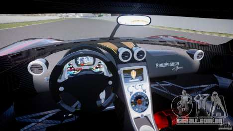 Koenigsegg Agera v1.0 [EPM] para GTA 4 vista de volta