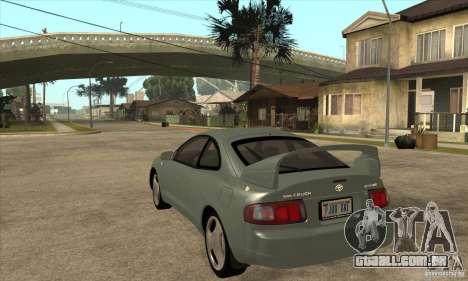 Toyota Celica GT-Four para GTA San Andreas traseira esquerda vista