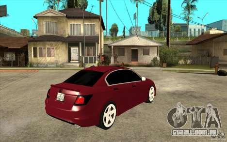 Honda Accord 2008 v2 para GTA San Andreas vista direita