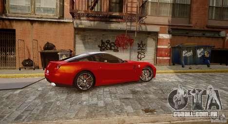 Ferrari 599 GTB para GTA 4 traseira esquerda vista