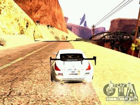 Nissan 350Z Avon Tires para GTA San Andreas traseira esquerda vista