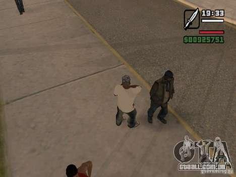 Dá um pouco de trivia-os desabrigados para GTA San Andreas segunda tela