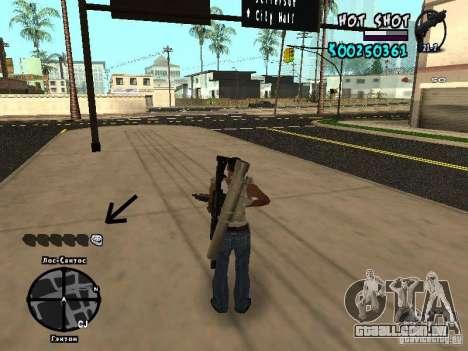 HUD by Hot Shot para GTA San Andreas terceira tela