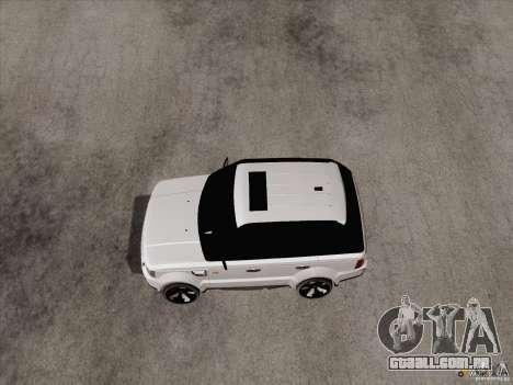 Range Rover Tuning para GTA San Andreas esquerda vista