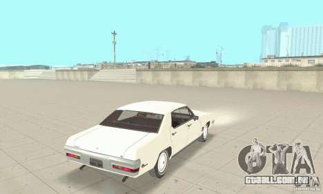 Pontiac LeMans 1971 para GTA San Andreas esquerda vista