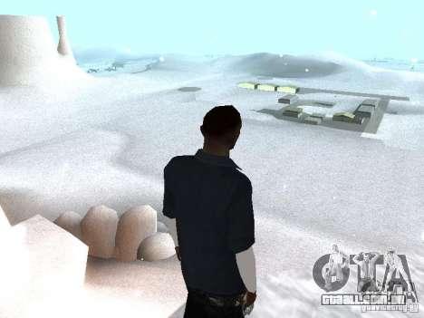 Snow MOD 2012-2013 para GTA San Andreas segunda tela