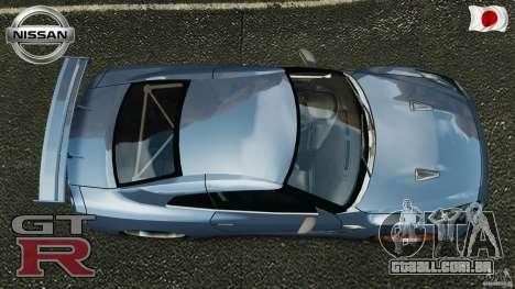 Nissan GT-R 35 rEACT v1.0 para GTA 4 vista direita