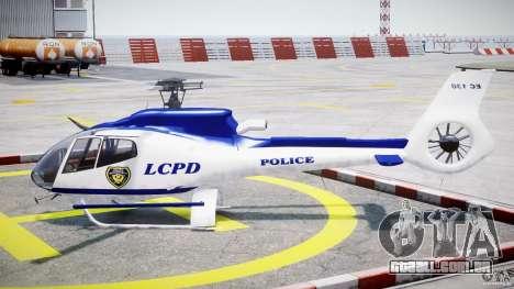 Eurocopter EC 130 LCPD para GTA 4 esquerda vista