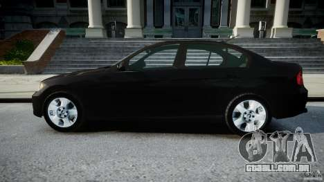 BMW 3-Series Unmarked [ELS] para GTA 4 esquerda vista