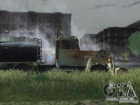 Armored Mack Titan Fuel Truck para GTA San Andreas traseira esquerda vista