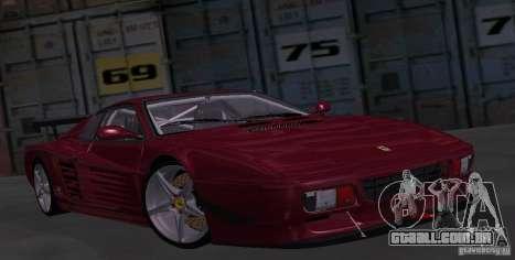 Ferrari 512 TR para GTA San Andreas vista traseira