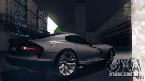 Dodge SRT Viper GTS 2012 V1.0 para GTA San Andreas vista superior