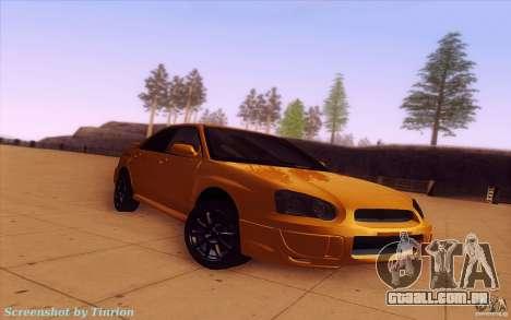 Subaru Impreza WRX STI 2005 para GTA San Andreas