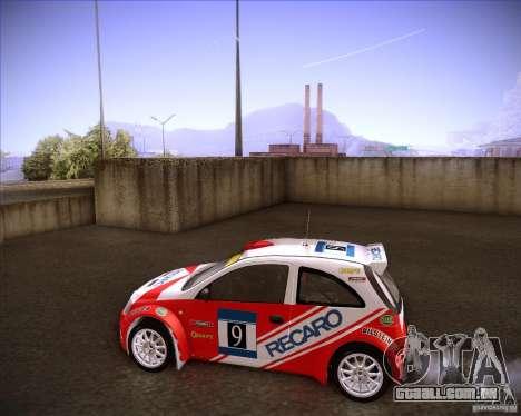 Opel Corsa Super 1600 para GTA San Andreas esquerda vista