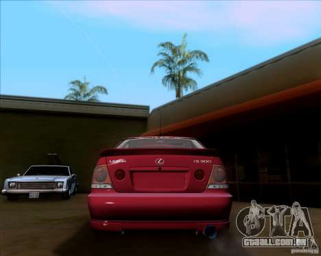 Lexus IS300 Hella Flush para GTA San Andreas vista direita