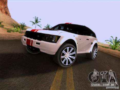 Bowler EXR S 2012 para GTA San Andreas traseira esquerda vista