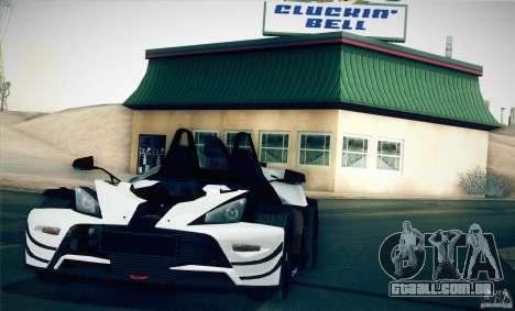 KTM-X-Bow para GTA San Andreas esquerda vista