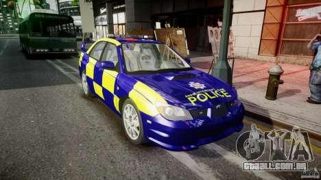 Subaru Impreza WRX Police [ELS] para GTA 4 vista de volta