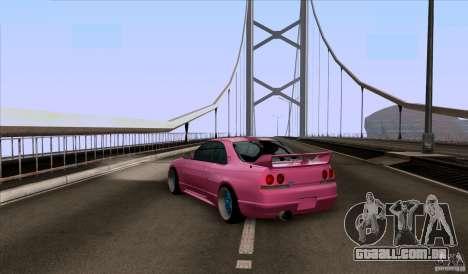 Nissan Skyline GTR 33 Fatlace para GTA San Andreas traseira esquerda vista