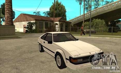 Toyota Celica Supra 1984 para GTA San Andreas vista traseira