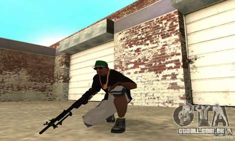 Browning M1919 para GTA San Andreas terceira tela