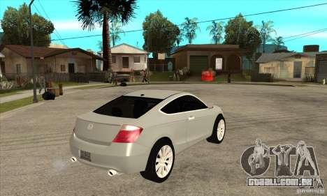 Honda Accord Coupe 2009 para GTA San Andreas vista direita