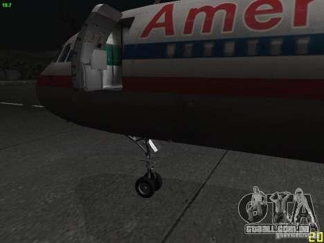 Airbus A320 para GTA San Andreas vista direita