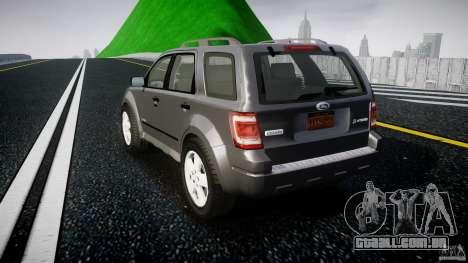 Ford Escape 2011 Hybrid Civilian Version v1.0 para GTA 4 traseira esquerda vista