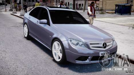 Mercedes-Benz C180 CGi Classic Special 2009 para GTA 4 vista de volta