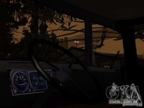 ZIL 130 polícia para GTA San Andreas traseira esquerda vista
