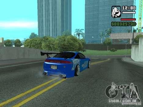 Mitsubishi Eclipse Tunning para GTA San Andreas esquerda vista