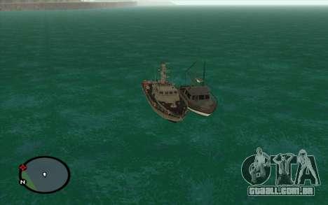 Barco militar de CODMW3 para GTA San Andreas traseira esquerda vista