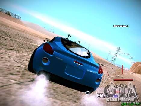 Pontiac Solstice Falken Tire para GTA San Andreas vista interior