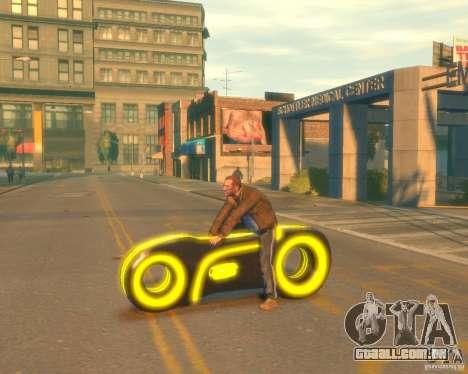 Motocicleta do trono (amarelo neon) para GTA 4 esquerda vista