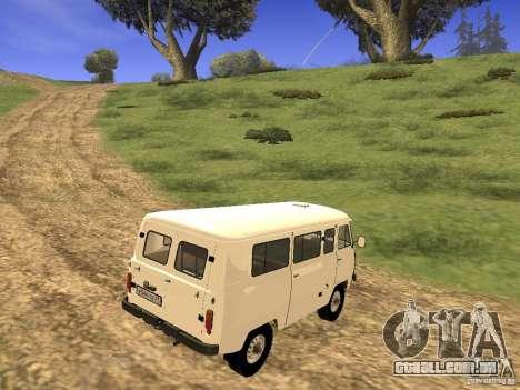 UAZ 2206 para GTA San Andreas traseira esquerda vista