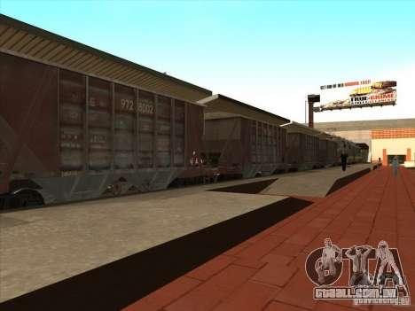 Vagões para GTA San Andreas vista interior