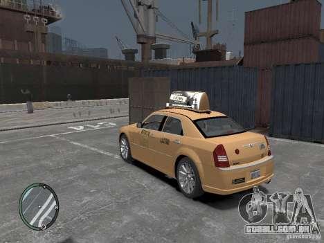 Chrysler 300c Taxi v.2.0 para GTA 4 esquerda vista