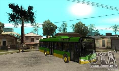 Solaris Urbino 11 para GTA San Andreas vista traseira