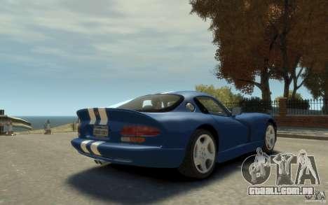 Dodge Viper GTS para GTA 4 vista direita