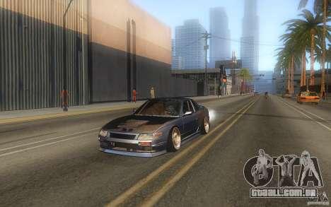 Nissan Silvia S13 Odyvia para GTA San Andreas traseira esquerda vista