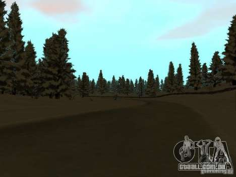 Trilha de inverno para GTA San Andreas terceira tela