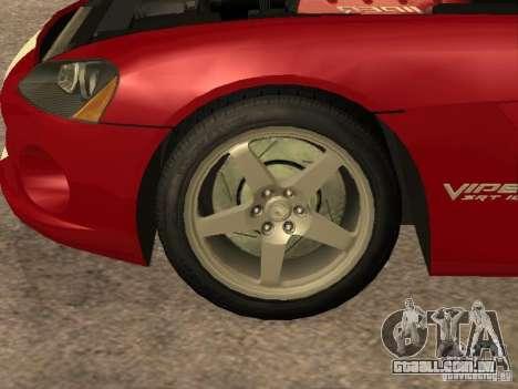 Dodge Viper para GTA San Andreas vista interior