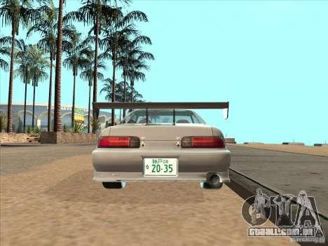 Toyota Soarer (JZZ30) para GTA San Andreas traseira esquerda vista