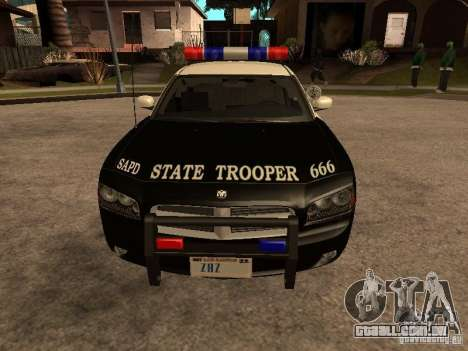 Dodge Charger RT Police para GTA San Andreas traseira esquerda vista