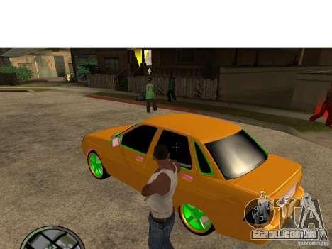 VAZ-2174 Priora Crazy Taxi para GTA San Andreas esquerda vista