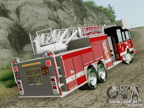 Pierce Rear Mount SFFD Ladder 49 para GTA San Andreas traseira esquerda vista