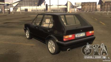 Volkswagen Golf para GTA 4 vista de volta