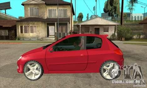 Peugeot 206 para GTA San Andreas esquerda vista