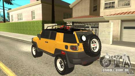 Toyota FJ Cruiser para GTA San Andreas traseira esquerda vista