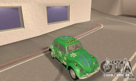 Volkswagen Beetle 1963 para GTA San Andreas vista inferior